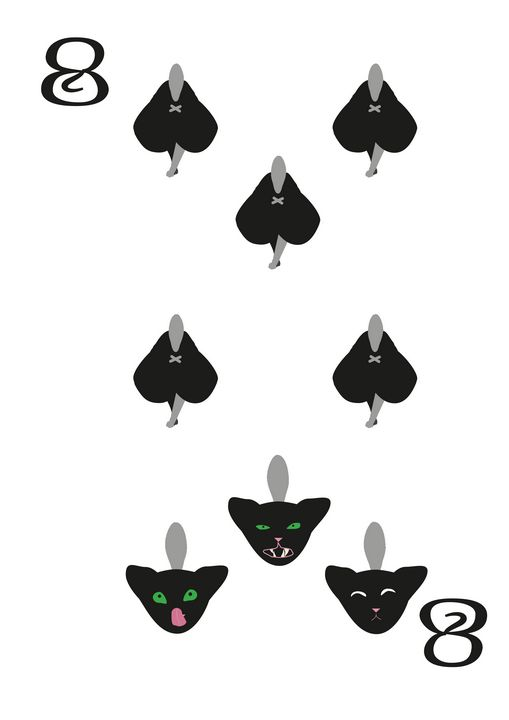 Spades Suit- Eight of cats - inidis