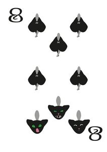 Spades Suit- Eight of cats