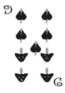 Spades Suit- Nine of cats