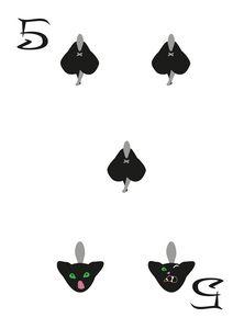 Spades Suit- Five of cats