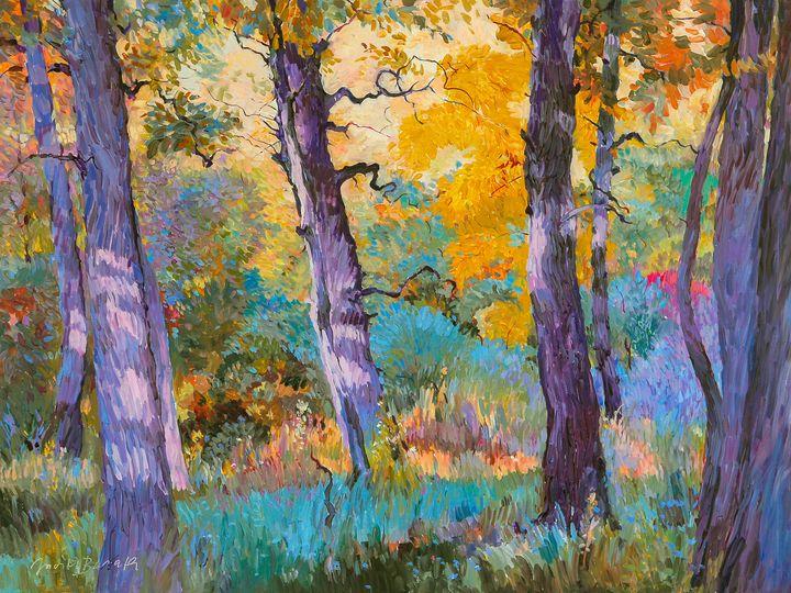 Afternoon Trees - Judith Barath Arts
