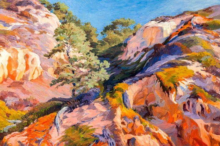 Sandstone Canyon at Torrey Pines - Judith Barath Arts