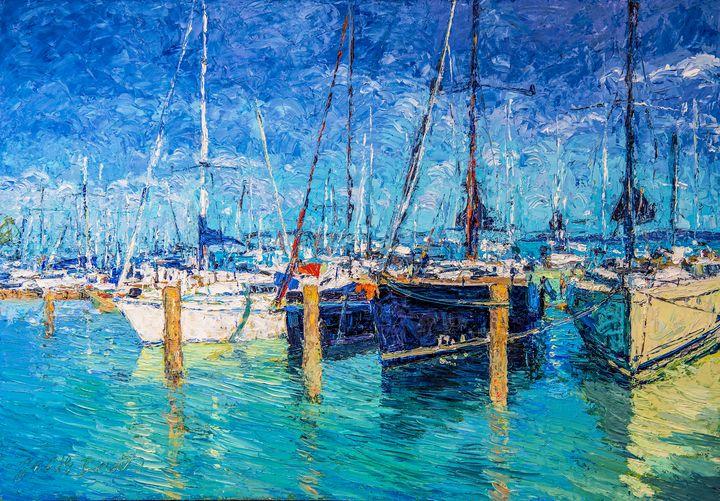 Sailboats at Balatonfured - Judith Barath Arts