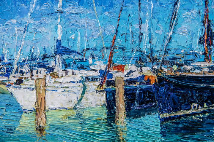 Sailboats at Lake Balaton - Judith Barath Arts