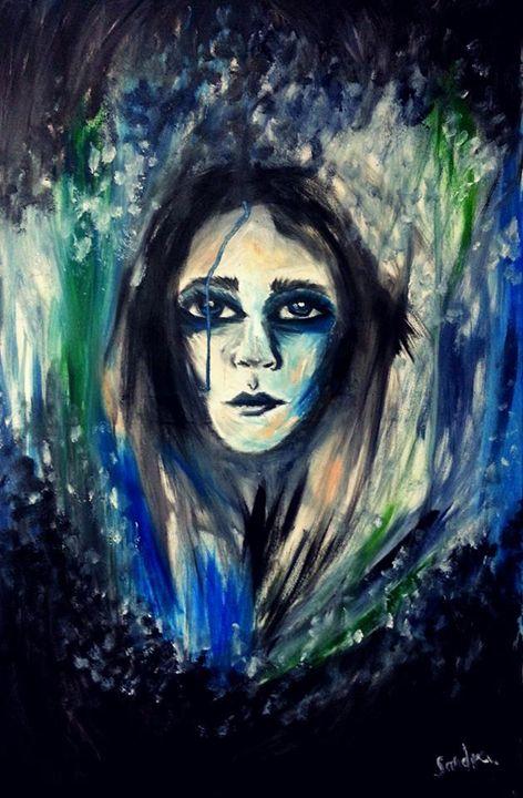Woman In Blue - Sandra Mickiewicz
