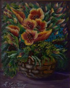 Flowers in basket 1