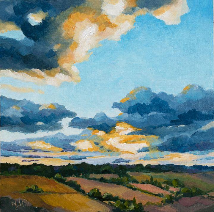 Sunset on Cordes sur Ciel - Nicole Barrière Jahan