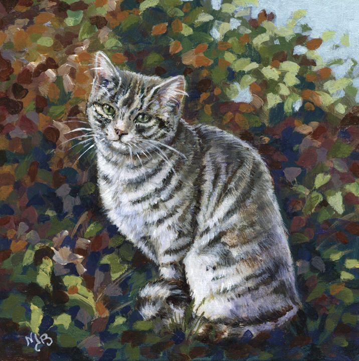 Le chat gris - Grey cat - Nicole Barrière Jahan