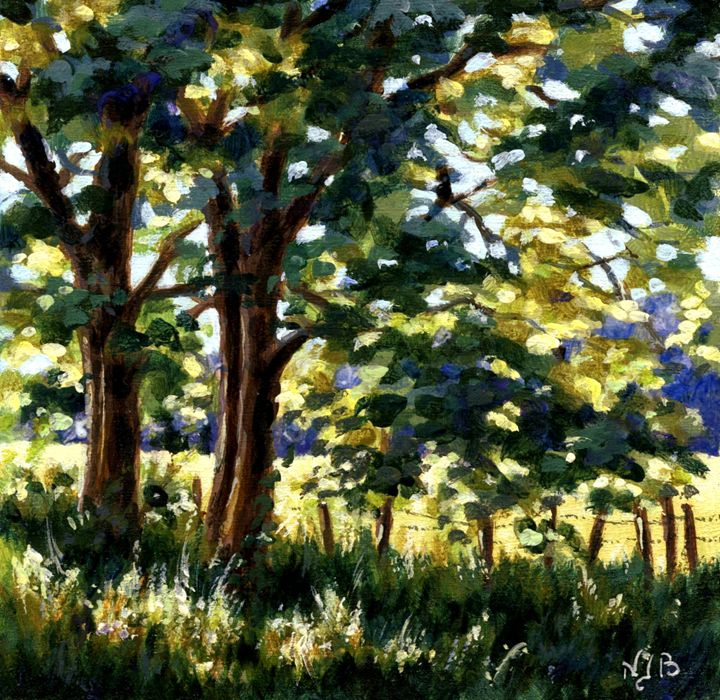 Trees against the light - Nicole Barrière Jahan