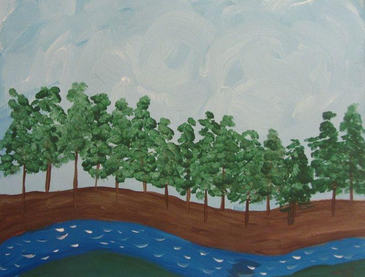 A Blue River - Marilyn Kline