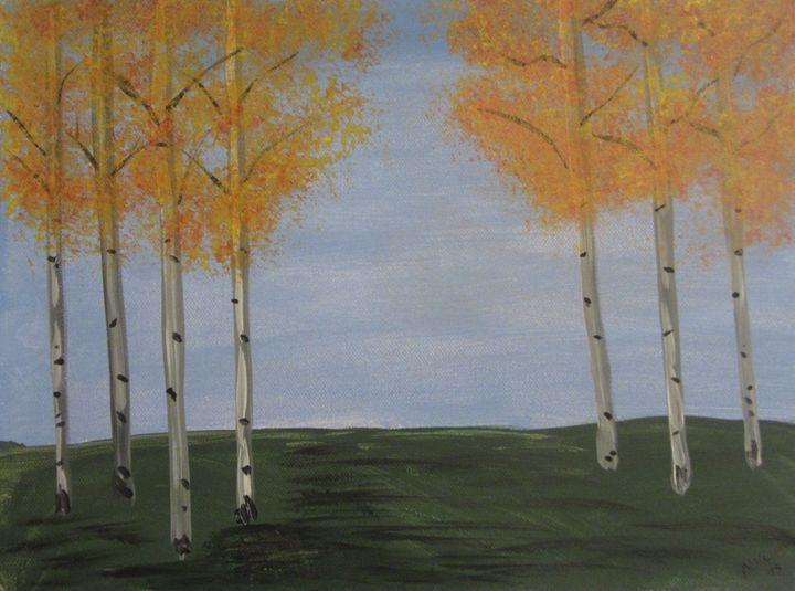 Seven Aspen trees - Marilyn Kline