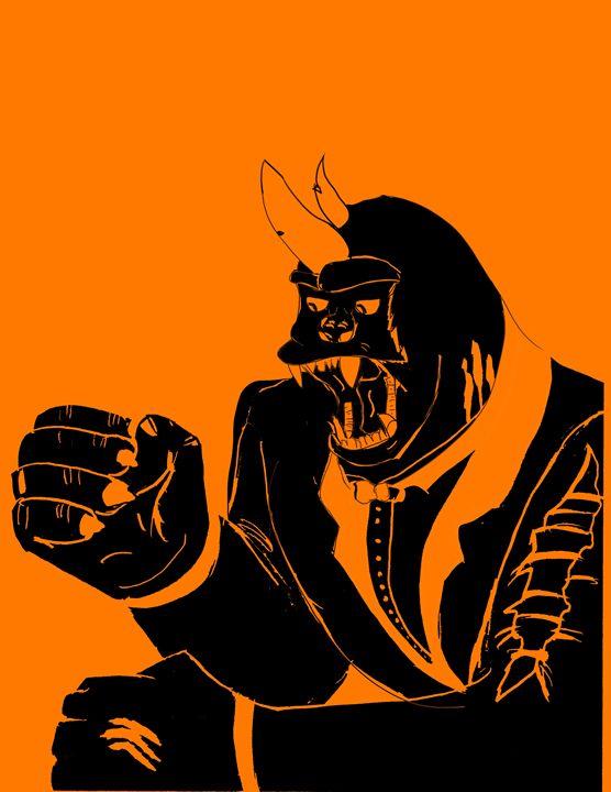 Gorilla Rhino Hybrid in a suit - Kieran O'Boyle
