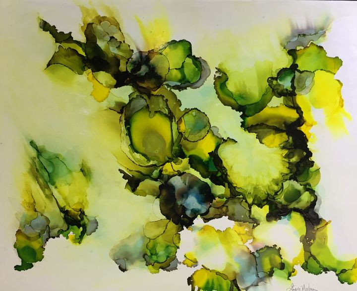 Green symphony, Symphonie en vert - Ginette Malouin Visual artist