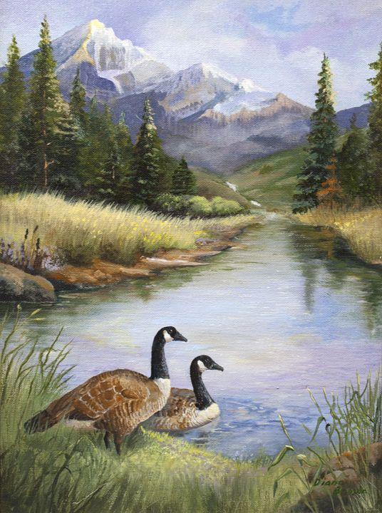 Nesting place - Paintings by Diana V Brown
