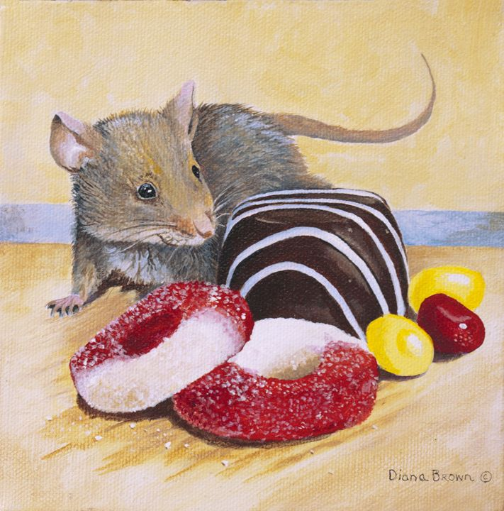 Party Crasher - Paintings by Diana V Brown
