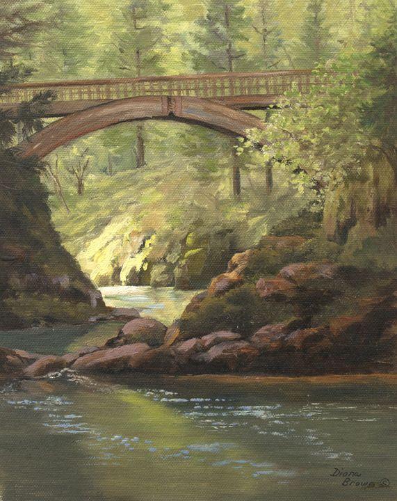 Bridge at Moulton Falls - Paintings by Diana Brown Schmidt