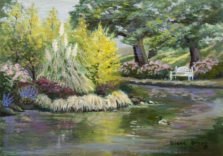 Laurelhurst park - Paintings by Diana V Brown