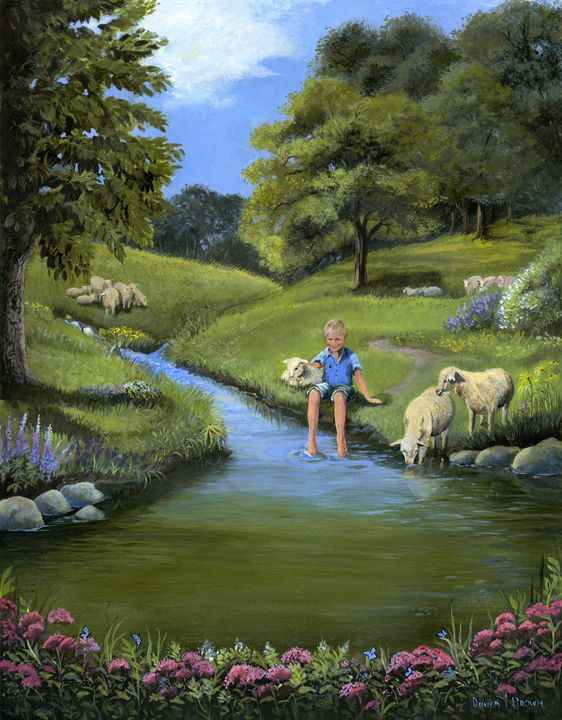 Psalm 23 - Paintings by Diana V Brown