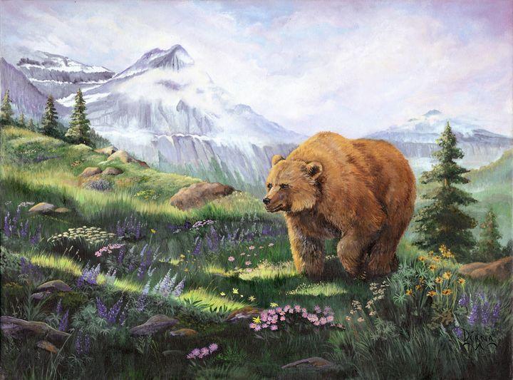 Alpine Stroll - Paintings by Diana Brown Schmidt