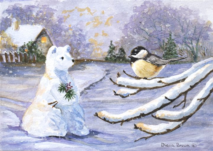 Snow bear - Paintings by Diana V Brown