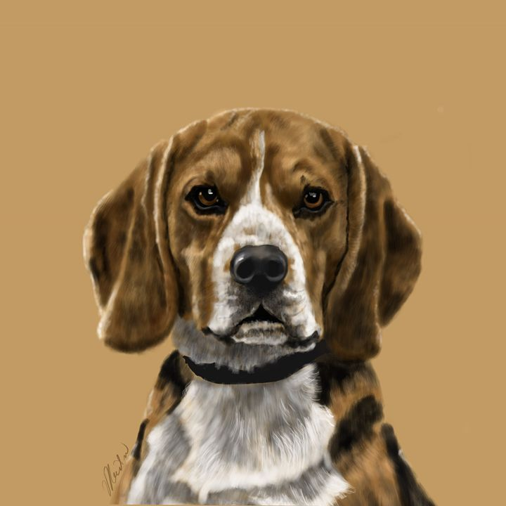 Beagle Portrait - Dogone Art
