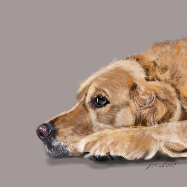 Golden Retriever at Rest - Dogone Art