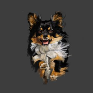 Chihuahua on the Move - Dogone Art