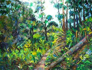 Road in the forest - Churyukinaartgallery