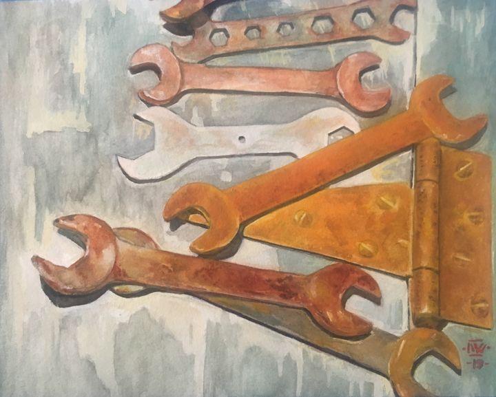 Rusty Wrenches - WynterArt