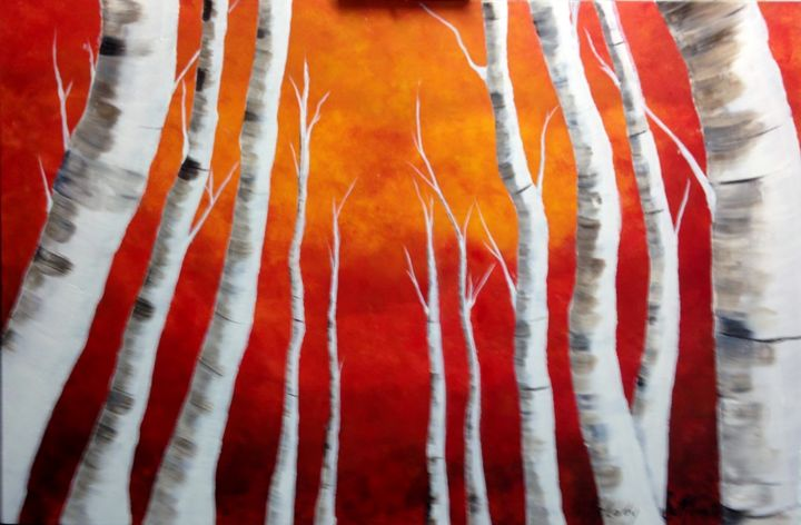 Birch Sunset - Melody Taylor Suttles
