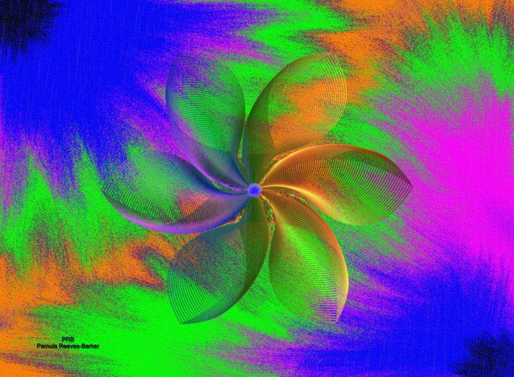 Abstract Pinwheel - Pamula Reeves-Barker Art