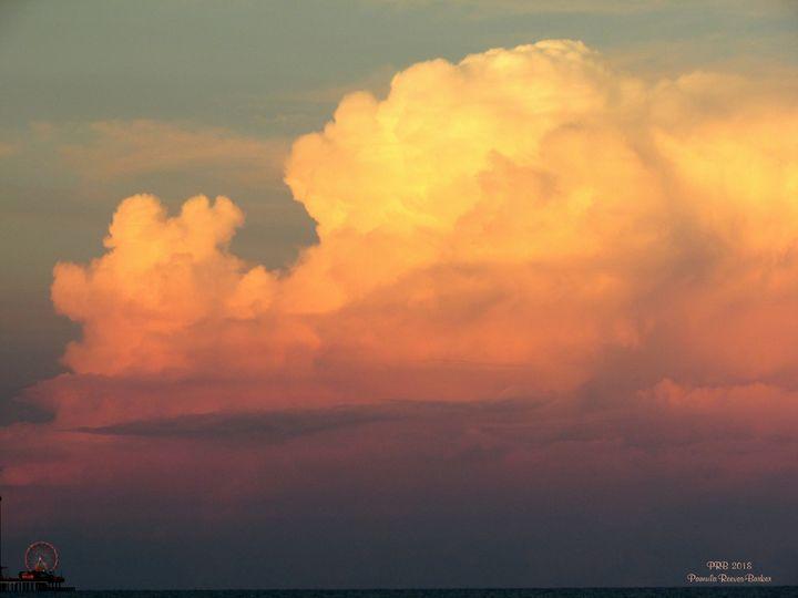 Cloud Over Pleasure Pier - Pamula Reeves-Barker Art