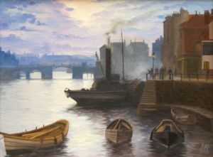 Whitby Harbour in the 1800s - Antony Wootten