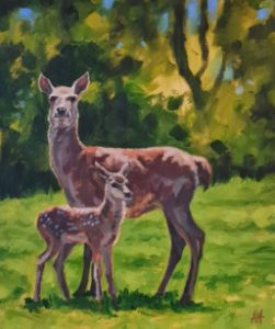 Deer and Fawn - Antony Wootten