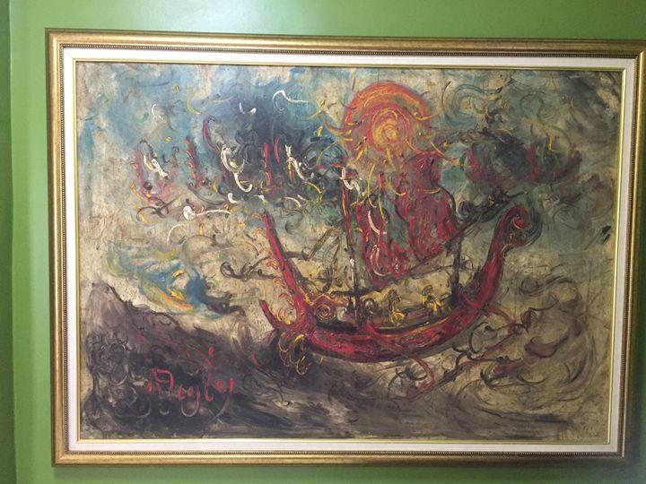 Perahu Kechil Di Lautan1, Affandi - MHR Nusantara Art