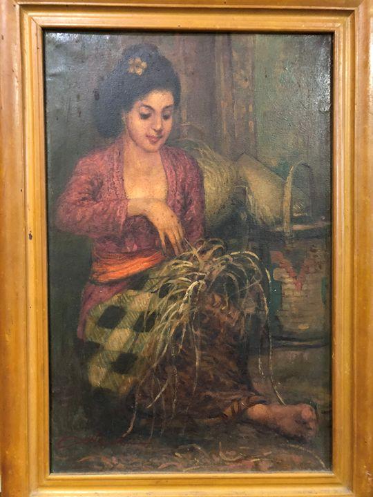 Lady Weaving - MHR Nusantara Art