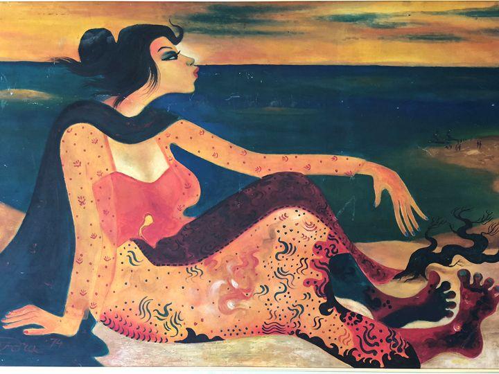 Perempuan (Woman)-Hendra Gunawan - MHR Nusantara Art