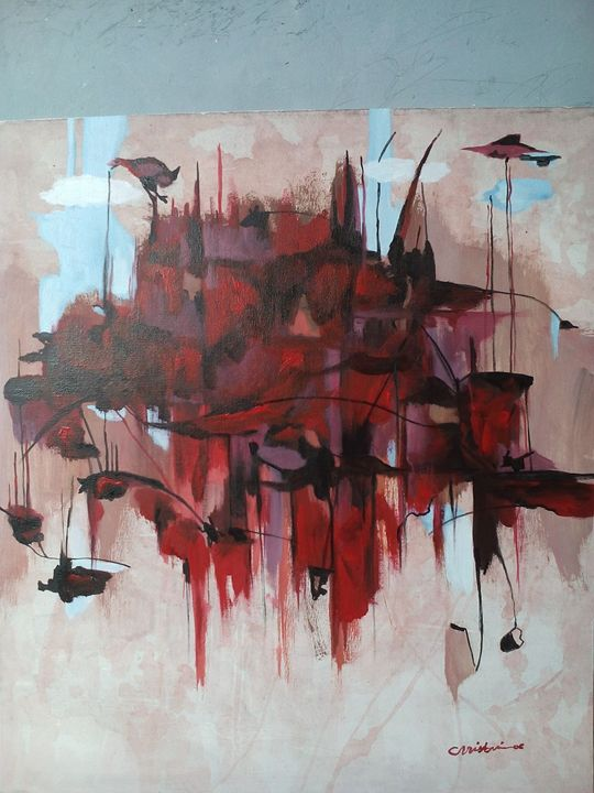 Red Composition-Christine Ay Tjoe - MHR Nusantara Art