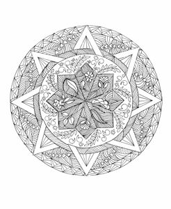 Mandala ready to color