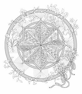 Mandala ready to color