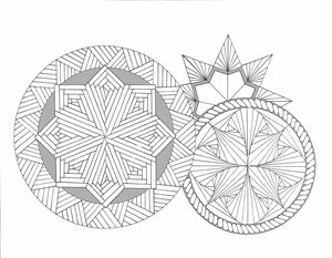 Three mandalas ready to color