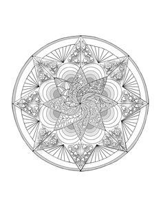 Mandala - coloring page style