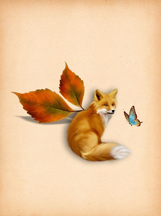 Autumn Fox - DreamBeyondArt