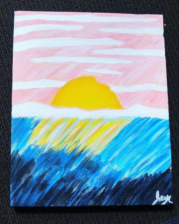 Sunset Painting - JennsPaintings