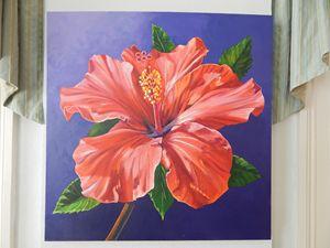 Red Hibiscus by Mikki Senkarik