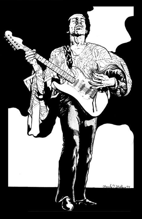 Jimi Hendrix 1 - Karen Charles Stidham
