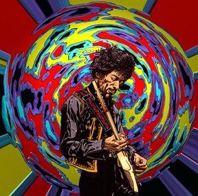 Jimi Hendrix Globe - Karen Charles Stidham