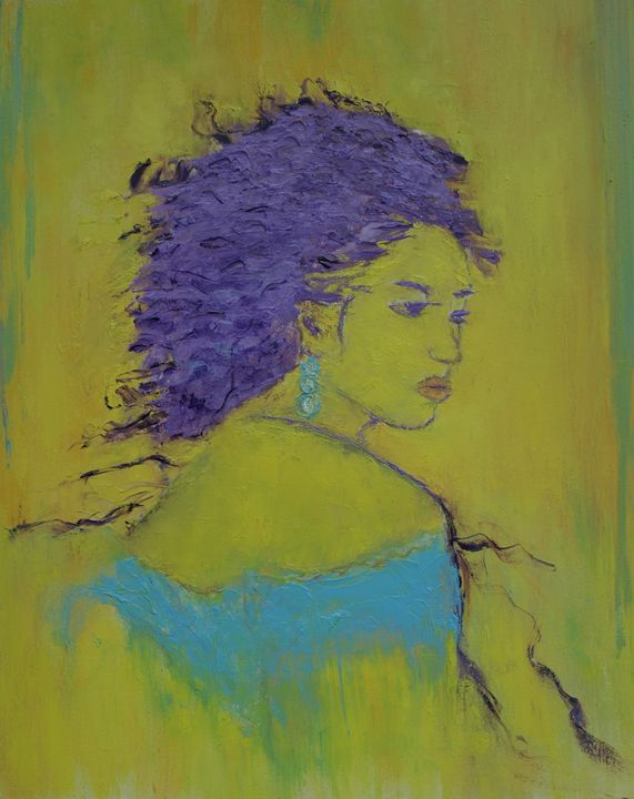 Woman  In  Blue - crina
