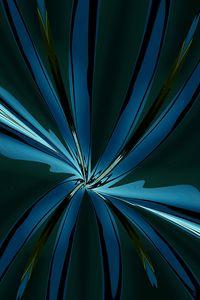 BLUE FLOWER in MOONLIGHT - TT Contemporary art