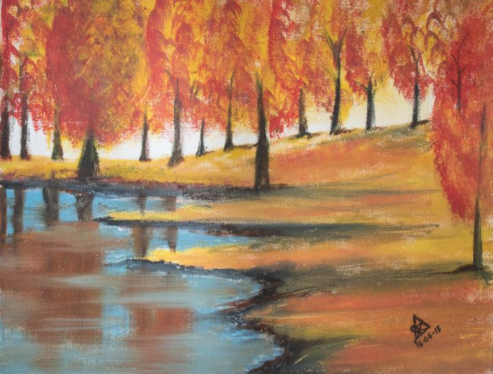 River Painting - Zack Arts